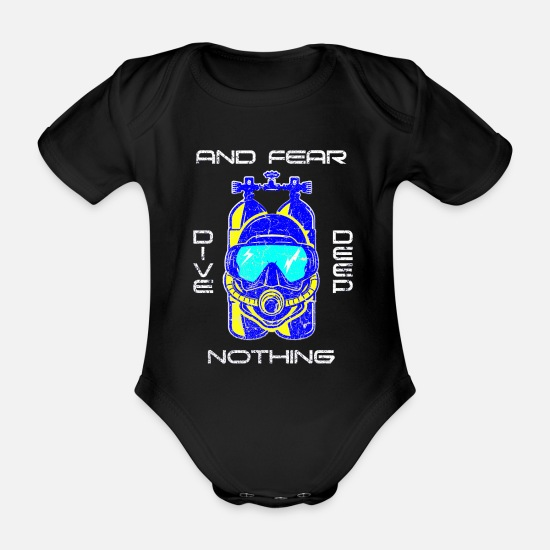 Gift Idea Baby Clothes - diving - Organic Short-Sleeved Baby Bodysuit black