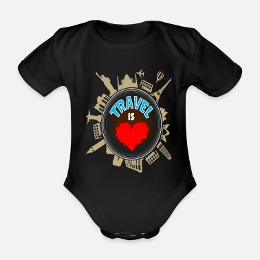 Holidays Holiday holidays and travel - Organic Short-Sleeved Baby Bodysuit