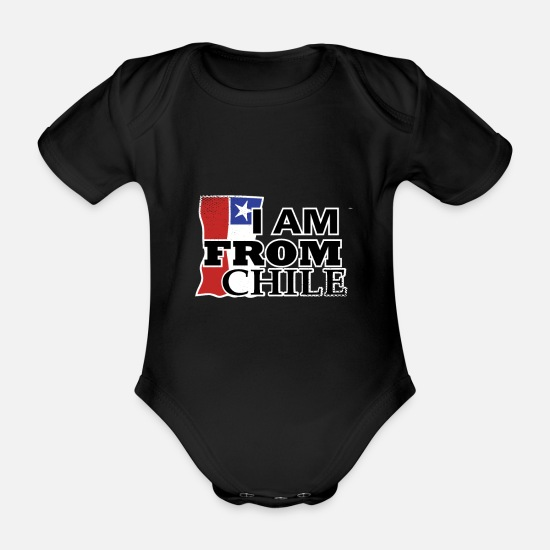 Grungy Baby Clothes - Chile - Organic Short-Sleeved Baby Bodysuit black