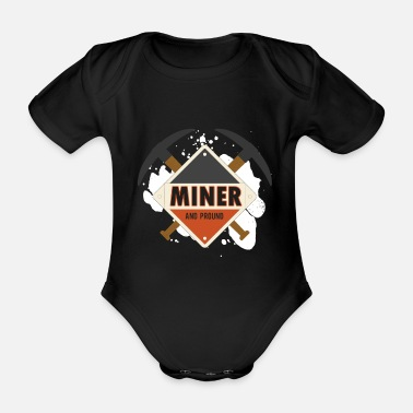 Bitcoin Mining miners buddy solidarity - Organic Short-Sleeved Baby Bodysuit