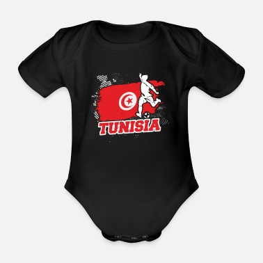 Worldcup Football Worldcup Tunisia Tunisian Soccer Team - Organic Short-Sleeved Baby Bodysuit