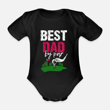 Iron Metal Golf dad golfer tee golf player gift - Organic Short-Sleeved Baby Bodysuit