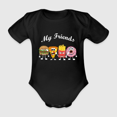 My fast food friends - Organic Short-sleeved Baby Bodysuit