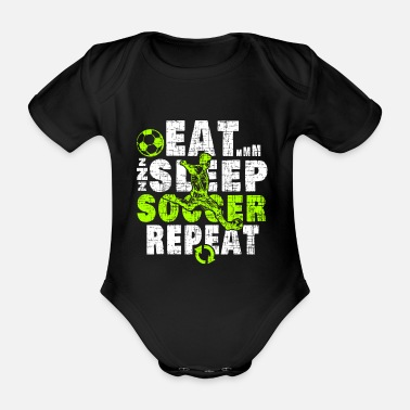 Defender Football Christmas Birthday Gift Idea - Organic Short-sleeved Baby Bodysuit