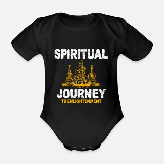 Buddhism Baby Clothes - Buddhism - Organic Short-Sleeved Baby Bodysuit black