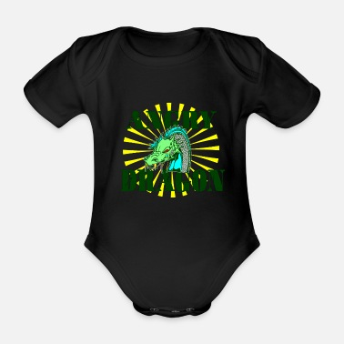 Mythical Dragonslayer, dragon, lizard, mythical creature, mythical creature - Organic Short-Sleeved Baby Bodysuit