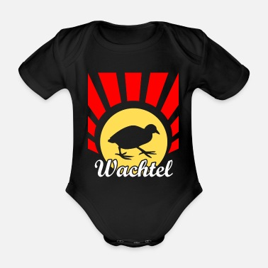 Water Bird Quail water bird - Organic Short-Sleeved Baby Bodysuit