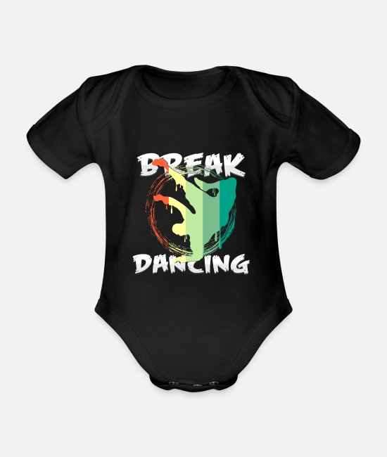 New York Baby bodies - breakdance - Rompertje met korte mouwen zwart