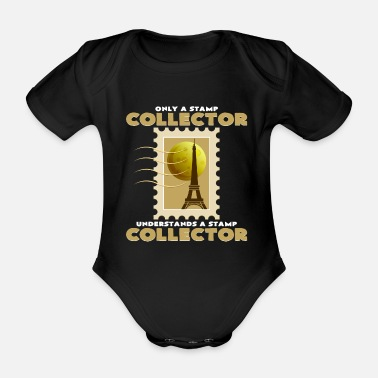 Stamp Collecting Stamp collection - Organic Short-Sleeved Baby Bodysuit