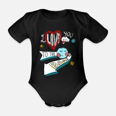 I love you to the moon - Body Bébé bio manches courtes