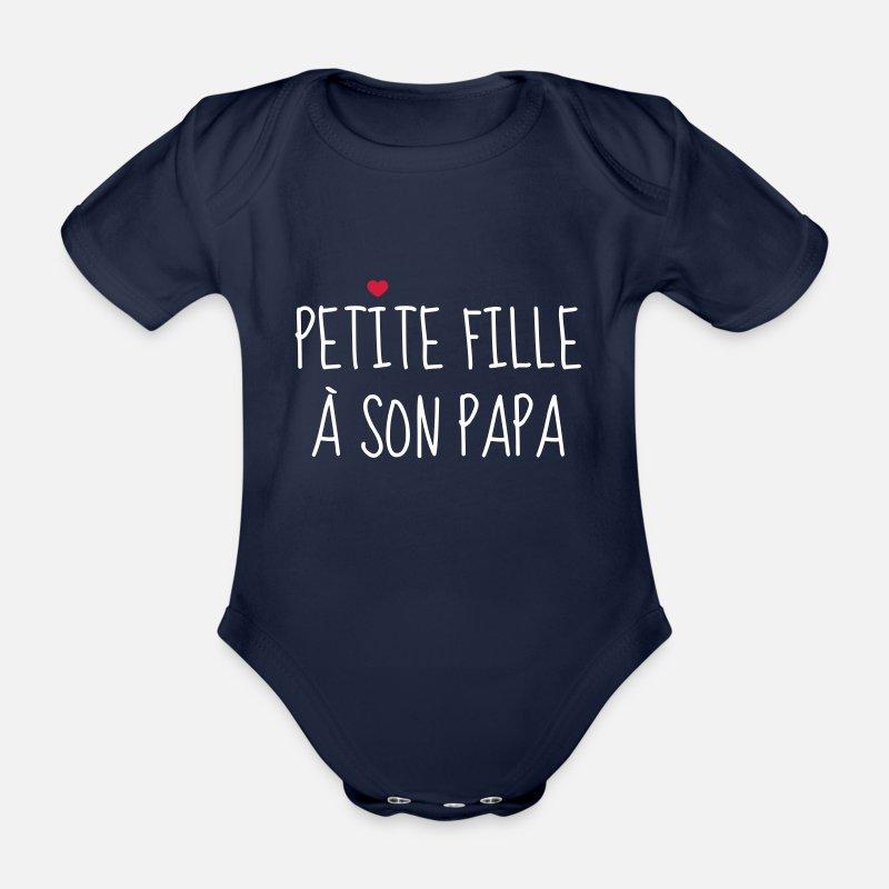 845b5fa5dba7a Petite fille à son Papa - Naissance - Enfant Body Bébé bio manches courtes