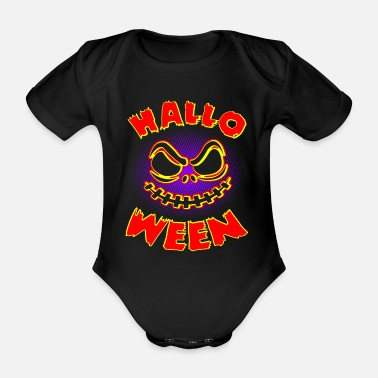 Vampire Halloween - Organic Short-sleeved Baby Bodysuit