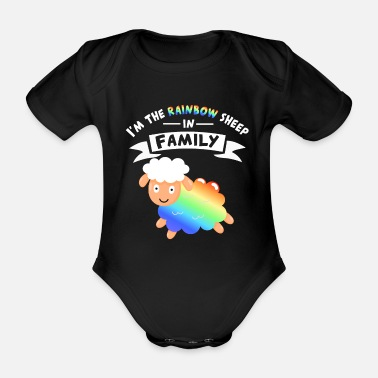 Gal Pride equality gay rainbow equal men - Organic Short-Sleeved Baby Bodysuit