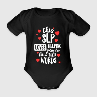 Community Love Speech Therapy Shirt for School Therapist SLP Gift - Organic Short-sleeved Baby Bodysuit