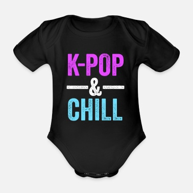 Up KPop & Chill KPop TShirt for Korean Culture Music - Organic Short-sleeved Baby Bodysuit