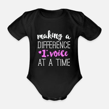 Staff Make A Difference 1 Voice At A Time SLP TShirt - Organic Short-sleeved Baby Bodysuit