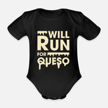 Funny Fitness Will Run For Queso Funny Fitness - Baby Bio Kurzarmbody