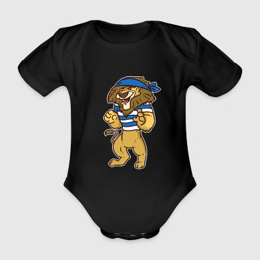 Pirate Pirate, pirate, pirate ship - Organic Short-sleeved Baby Bodysuit