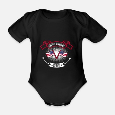 Fatherland happy partiot day of the fatherland - Organic Short-Sleeved Baby Bodysuit