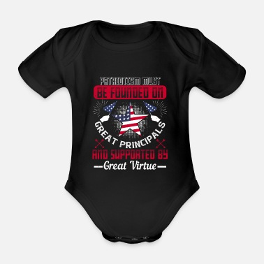 Fatherland Patriotism must be friend of the fatherland - Organic Short-Sleeved Baby Bodysuit
