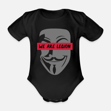 Anonymous anonymous_we_are_legion_002 - Organic Short-Sleeved Baby Bodysuit