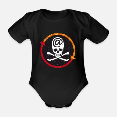 Net PIRATE OF THE NET - Organic Short-sleeved Baby Bodysuit