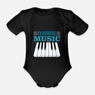 Classical Music Classical music - Organic Short-Sleeved Baby Bodysuit