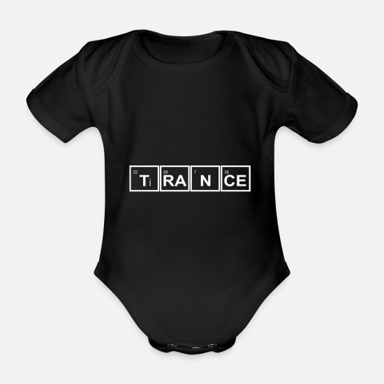 Gift Idea Baby Clothes - trance - Organic Short-Sleeved Baby Bodysuit black