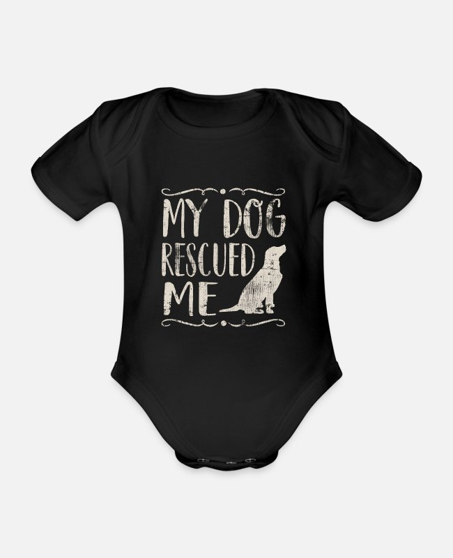 Dog Owner Baby Bodysuits - Dog animal welfare - Organic Short-Sleeved Baby Bodysuit black
