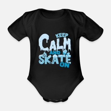 Skate Skating skates - Organic Short-Sleeved Baby Bodysuit