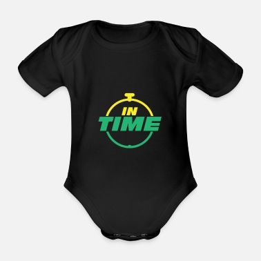 Times IN TIME In time Timely timing - Organic Short-Sleeved Baby Bodysuit