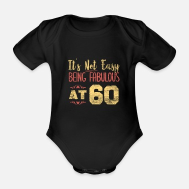 60th 60th birthday - Organic Short-Sleeved Baby Bodysuit