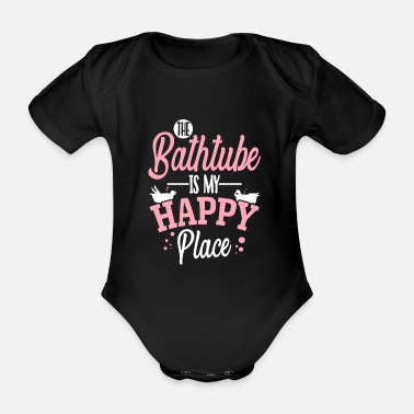 Bath Bathtub bathing - Organic Short-Sleeved Baby Bodysuit
