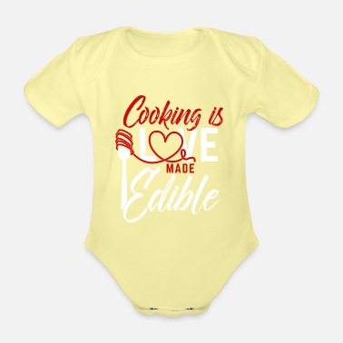 Apron Cooking apron with funny saying - Organic Short-Sleeved Baby Bodysuit