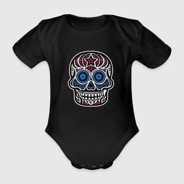 Pirate Skull design skull bone skull gift - Organic Short-sleeved Baby Bodysuit