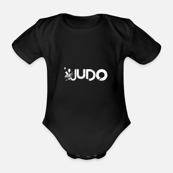 Judo Baby Clothes - judo - Organic Short-Sleeved Baby Bodysuit black