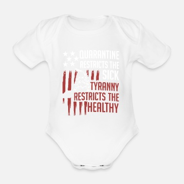 Pirate Flag Quarantine Restricts Quote Graphic - Organic Short-Sleeved Baby Bodysuit