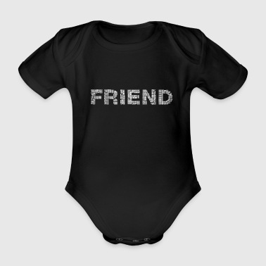 Friend friend - Organic Short-sleeved Baby Bodysuit
