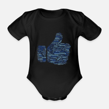 Positive and warm word cloud - Organic Short-Sleeved Baby Bodysuit