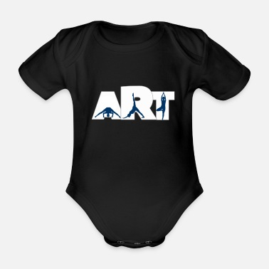 Yoga is an art of balance, mind and body - Organic Short-Sleeved Baby Bodysuit