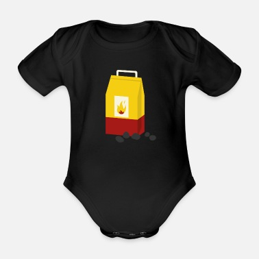 Charcoal charcoal - Organic Short-Sleeved Baby Bodysuit