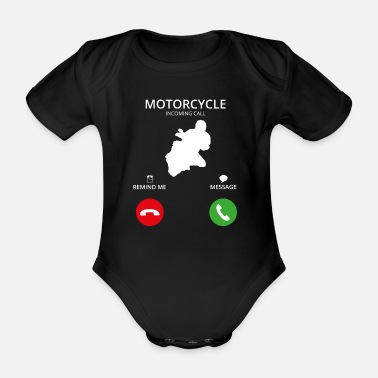 Phone Call Mobile Phone - Organic Short-Sleeved Baby Bodysuit