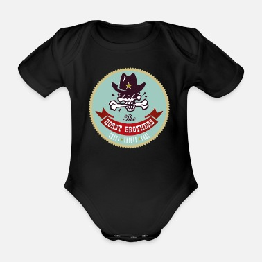 Horst THE HORST BROTHERS org Logo - Organic Short-Sleeved Baby Bodysuit