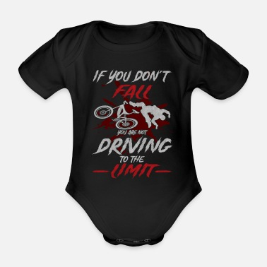 Cycling Who does not fall cyclists bike sport - Organic Short-Sleeved Baby Bodysuit
