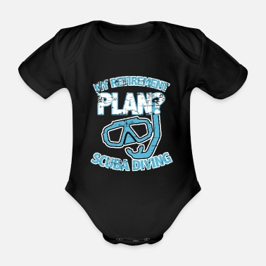 Scuba Scuba diving - Organic Short-Sleeved Baby Bodysuit