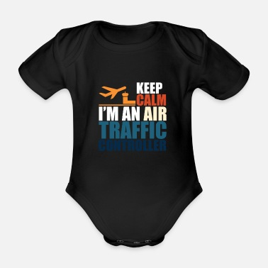 Traffic Air traffic controllers say - Organic Short-Sleeved Baby Bodysuit