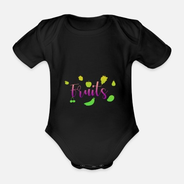Fruit Fruits - fruits - Organic Short-Sleeved Baby Bodysuit