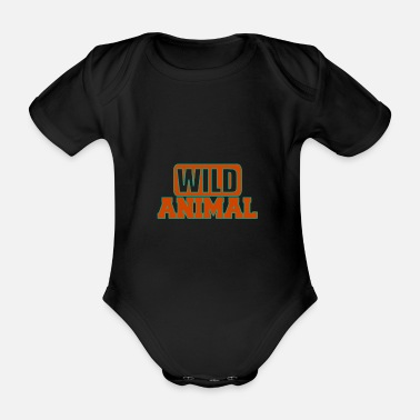 Wild Animal Parks Wild animal - Wild animals - Organic Short-Sleeved Baby Bodysuit