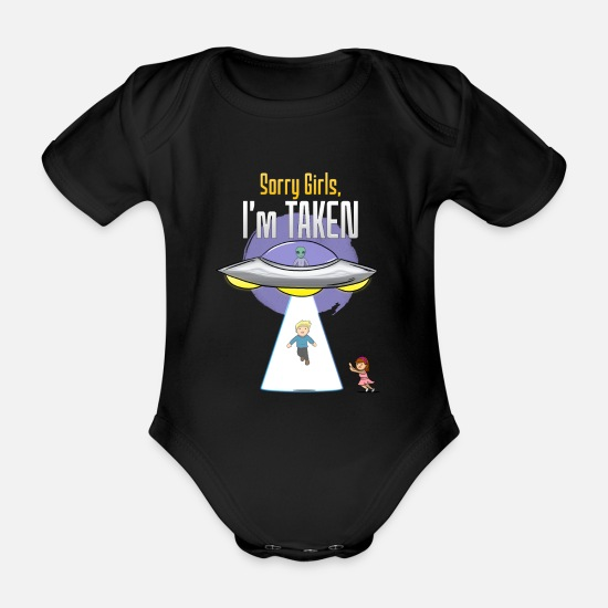 Astronaut Baby Clothes - spaceship - Organic Short-Sleeved Baby Bodysuit black