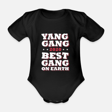 Poll Yang Gang USA election 2020 - Organic Short-Sleeved Baby Bodysuit